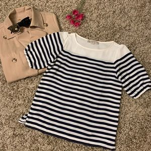 LOFT striped chiffon blouse